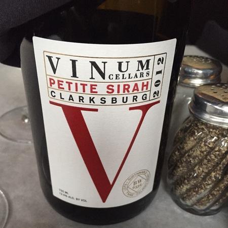 Vinum Cellars V Clarksburg Petite Sirah 2015
