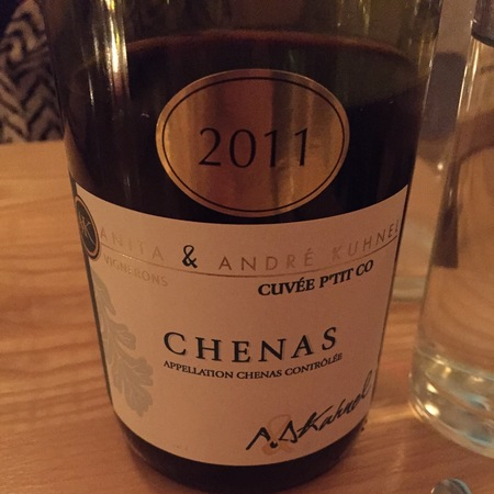 Anita & André Kuhnel Cuvée P'Tit Co Chenas Gamay 2010