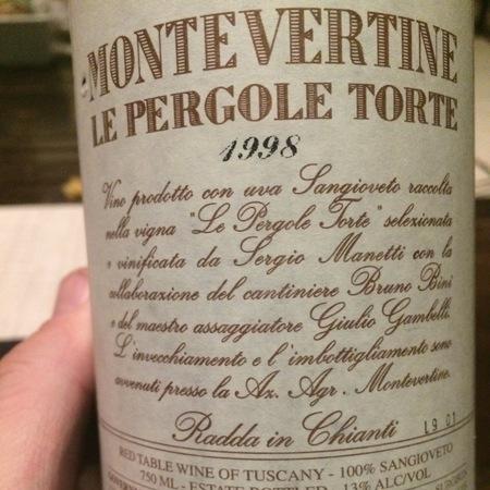 Montevertine Le Pergole Torte Sangiovese 1998