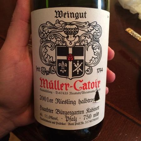 Müller-Catoir  Haardter Bürgergarten Kabinett halbtrocken  Riesling  2003