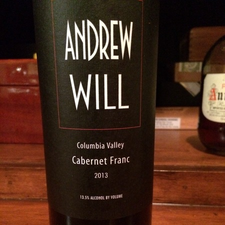 Andrew Will Columbia Valley Cabernet Franc 2015