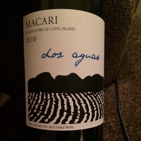 Macari Dos Aguas Red Bordeaux Blend 2010