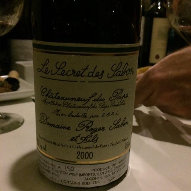 Le Secret des Sabon Châteauneuf-du-Pape Red Rhone Blend 2000 (1500ml)