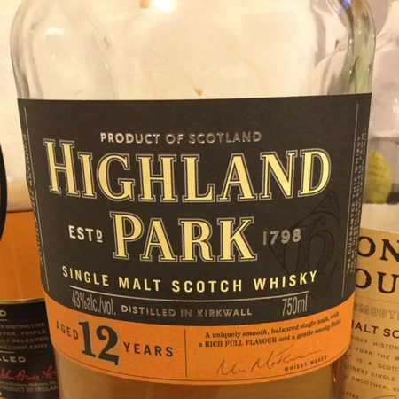 Highland Park Distillery Aged 12 Years Single Malt Scotch Whisky NV