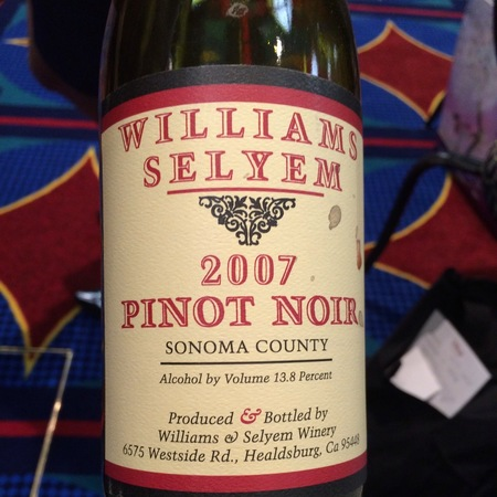 Williams Selyem Sonoma County Pinot Noir 2007