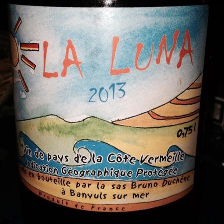 Bruno Duchêne La Luna Vin de Pays de la Côte Vermeille Red Blend 2016