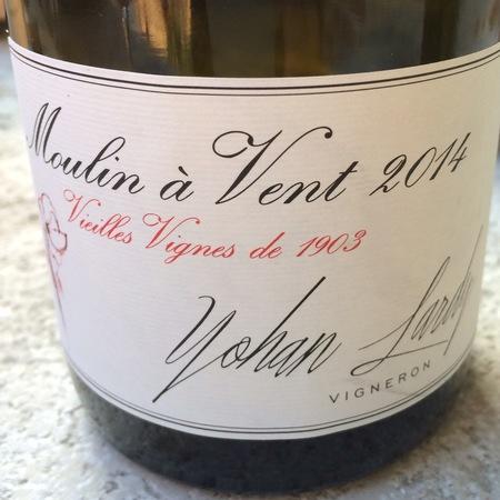 Yohan Lardy Vieilles Vignes Moulin-à-Vent Gamay 2014