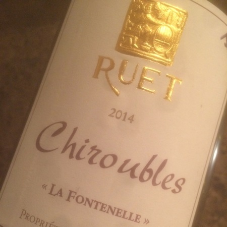 Domaine Ruet La Fontenelle Chiroubles Gamay 2014