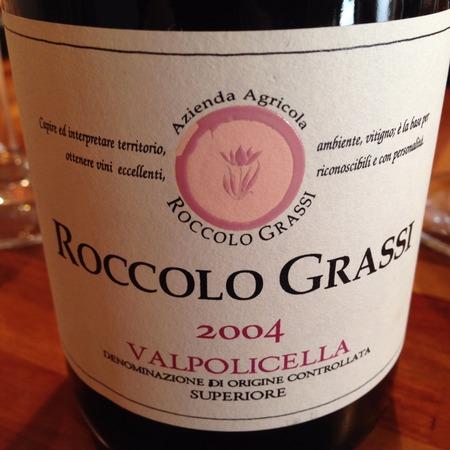 Roccolo Grassi Valpolicella Superiore Corvina Blend 2004