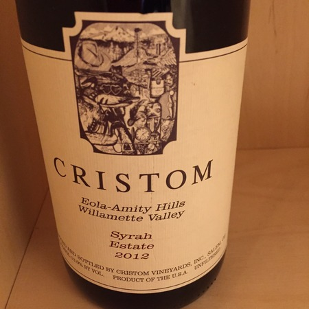 Cristom Estate Eola-Amity Hills Syrah 2012
