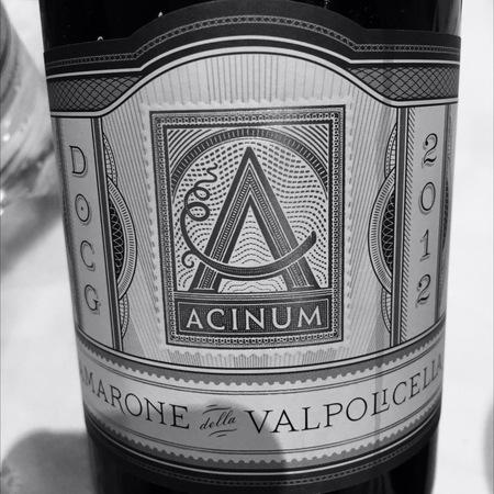 Acinum Amarone della Valpolicella Corvina 2012