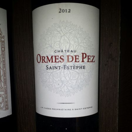 Château Ormes de Pez Saint-Estèphe Red Bordeaux Blend 2012