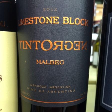 TintoNegro Limestone Block Malbec 2012