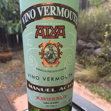 Manuel Acha Atxa Vino Vermouth