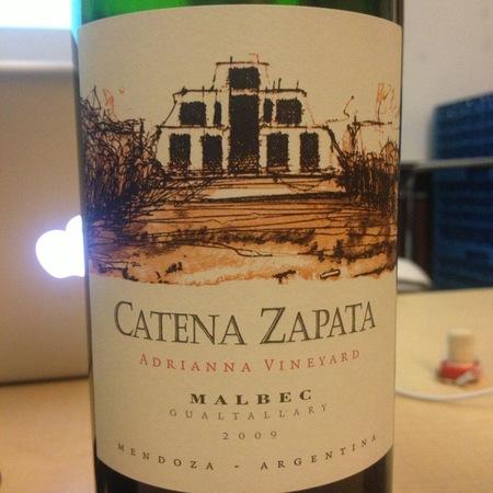 Bodega Catena Zapata Adrianna Vineyard Malbec 2009