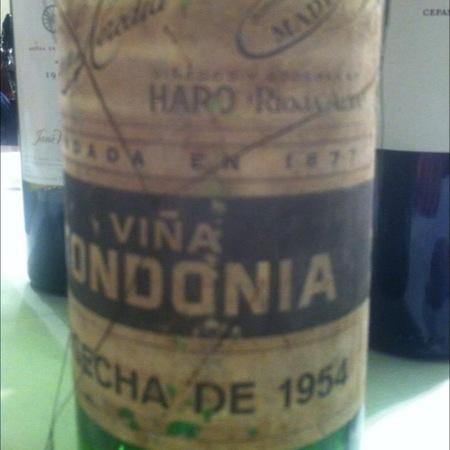 R. López de Heredia Viña Tondonia Gran Reserva Rioja Tempranillo Blend 1954