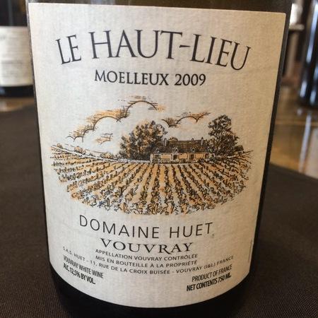 Domaine Huet Le Haut-Lieu Moelleux Vouvray Chenin Blanc 2015