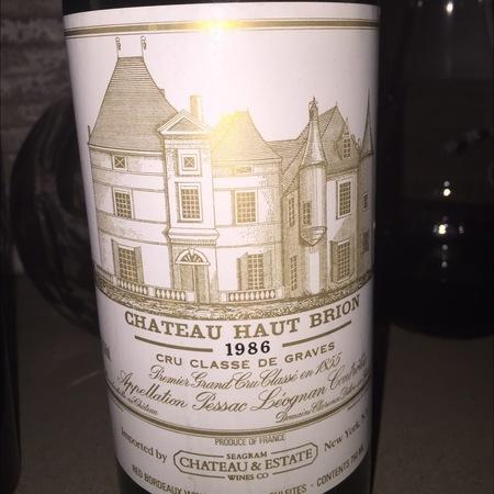 Château Haut-Brion Pessac-Léognan Red Bordeaux Blend 1986