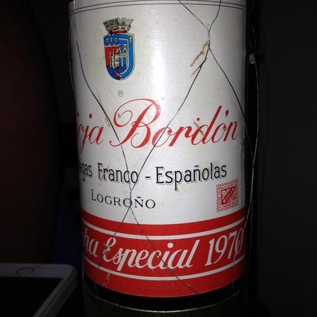 Bodegas Franco-Españolas Bordón Cosecha Especial Rioja Tempranillo Blend 1970