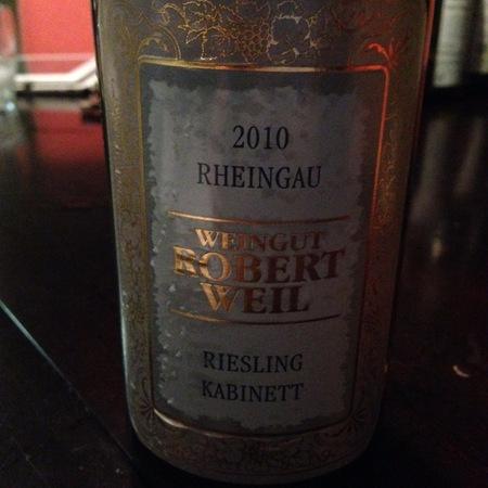 Weingut Robert Weil Rheingau Kabinett Riesling 2010