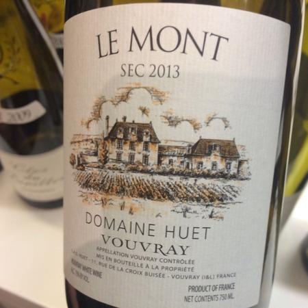 Domaine Huet Vouvray Sec Chenin Blanc 2013