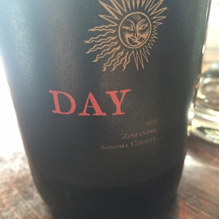 Day Wines Sonoma County Zinfandel 2015