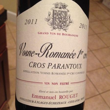Emmanuel Rouget Cros Parantoux Vosne-Romanée 1er Cru Pinot Noir 2011
