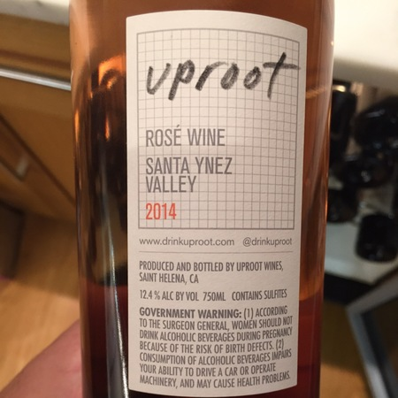 Uproot Wines Carignan Syrah Rosé 2014