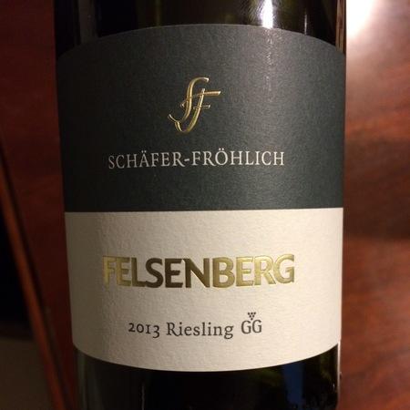 Schäfer-Fröhlich Felsenberg GG Riesling 2015