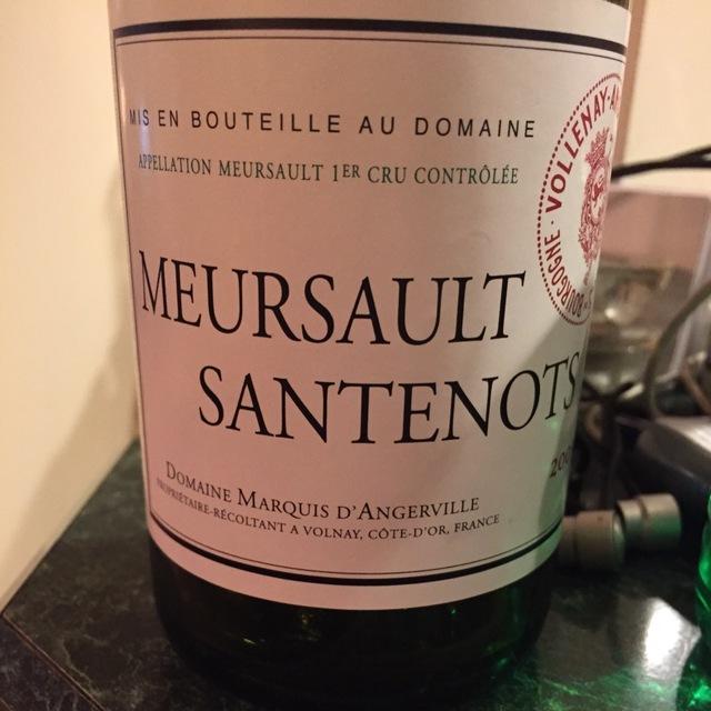 Santenots Meursault 1er Cru Chardonnay 2013