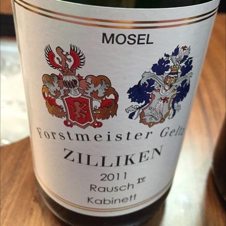 Weingut Forstmeister Geltz Zilliken  Rausch Kabinett Riesling 2015