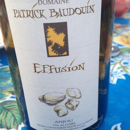 Domaine Patrick Baudouin Effusion Anjou Chenin Blanc 2014