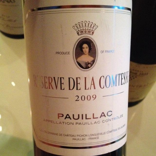 Réserve de la Comtesse Pauillac Red Bordeaux Blend 2009