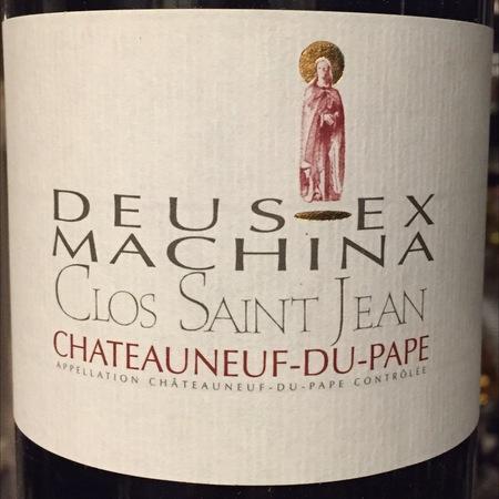 Clos Saint Jean Deus Ex Machina Châteauneuf-du-Pape Red Rhone Blend 2015