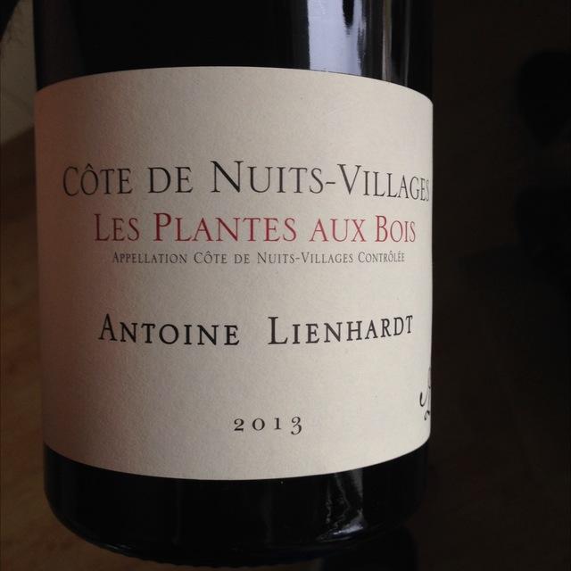 Les Plantes aux Bois Côte de Nuits-Villages Pinot Noir 2013