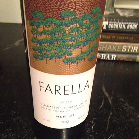 Farella Vineyards Coombsville Merlot 2012