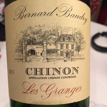 Domaine Bernard Baudry Les Granges  Chinon Cabernet Franc 2015