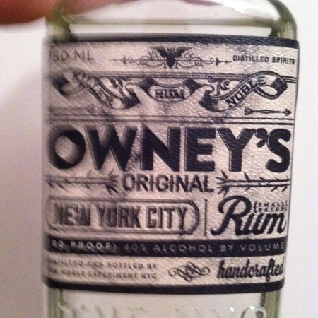 The Noble Experiment Owney's Original Rum NV