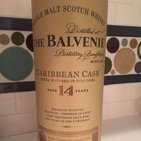 The Balvenie Distillery Aged 14 Years Caribbean Cask Single Malt Scotch Whisky NV