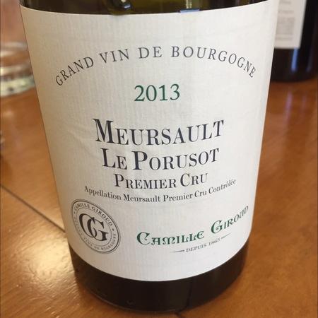 Camille Giroud Le Porusot Meursault 1er Cru Chardonnay 2013