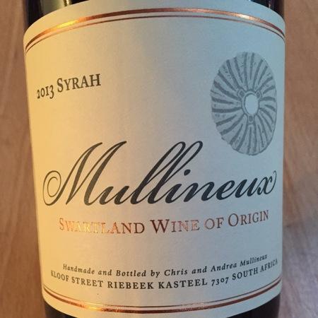 Mullineux Family Wines Swartland Syrah 2013
