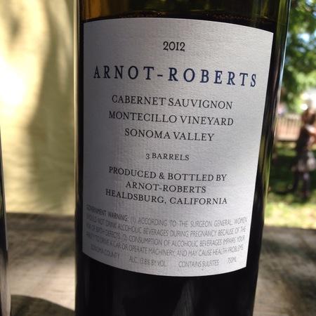 Arnot-Roberts Montecillo Vineyard Cabernet Sauvignon 2014