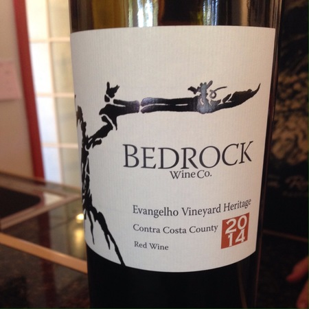 Bedrock Wine Co. Evangelho Vineyard Heritage Zinfandel Blend 2014