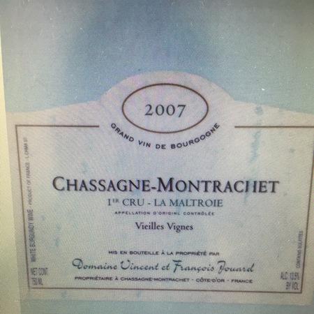 Domaine Vincent et Francois Jouard  La Maltroie Vieilles Vignes Chassagne-Montrachet 1er Cru Chardonnay 2014