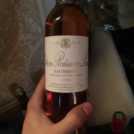 Château Roûmieu-Lacoste Sauternes Sémillon-Sauvignon Blanc Blend 1998