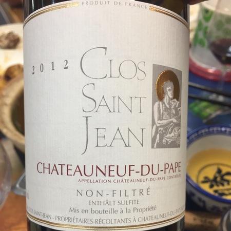 Clos Saint Jean Châteauneuf-du-Pape Red Rhone Blend 2015