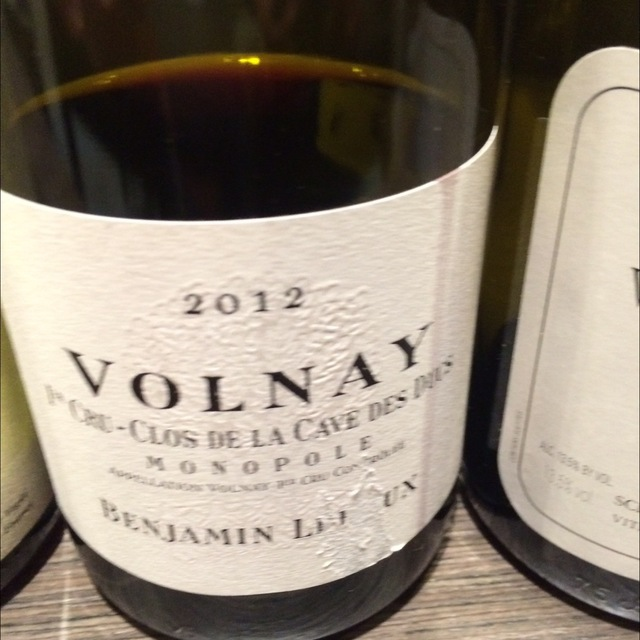 Clos de la Cave des Ducs Volnay 1er Cru Pinot Noir 2012