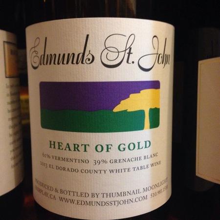 Edmunds St. John Heart of Gold El Dorado County Vermentino Grenache Blanc 2016