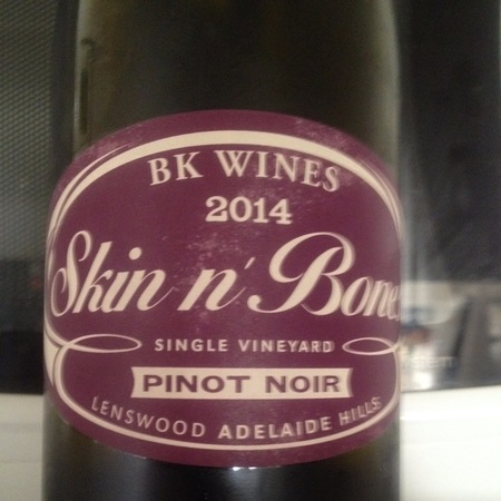 BK Wines Skin n' Bones Single Vineyard Lenswood Pinot Noir 2014