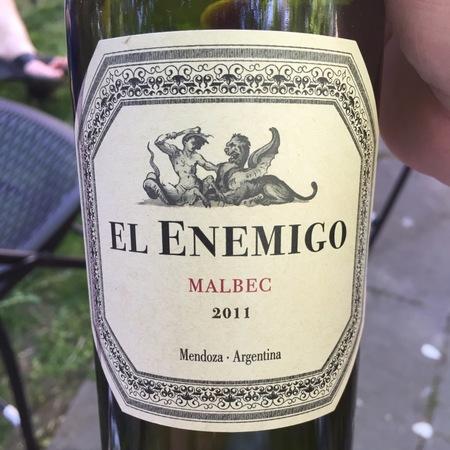 El Enemigo Mendoza Malbec 2011